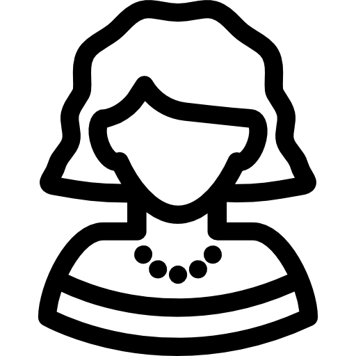 Woman with Short Hair  free icon