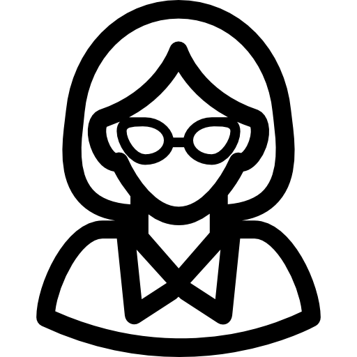 Woman with Glasses  free icon