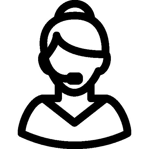 Колл-центр Девушка  бесплатно иконка