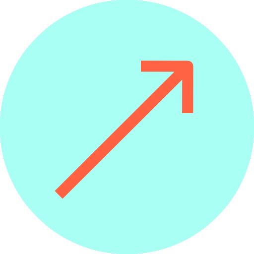seta diagonal  grátis ícone