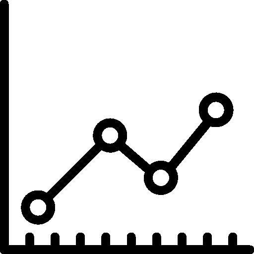 graphique en ligne  Icône gratuit