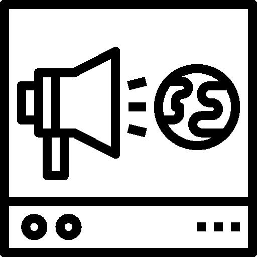 Advertising  free icon