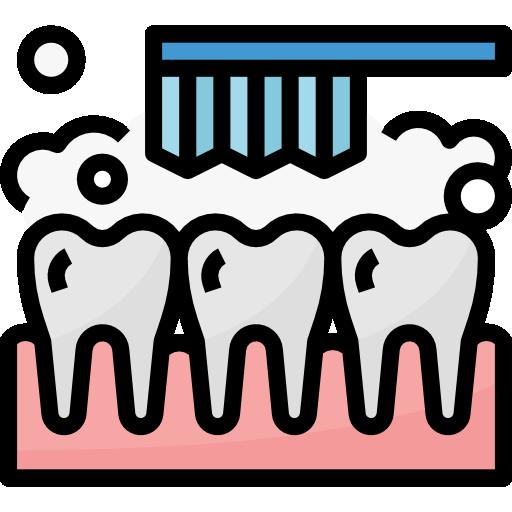 Чистка зубов  бесплатно иконка