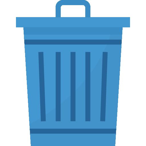 Trash can  free icon