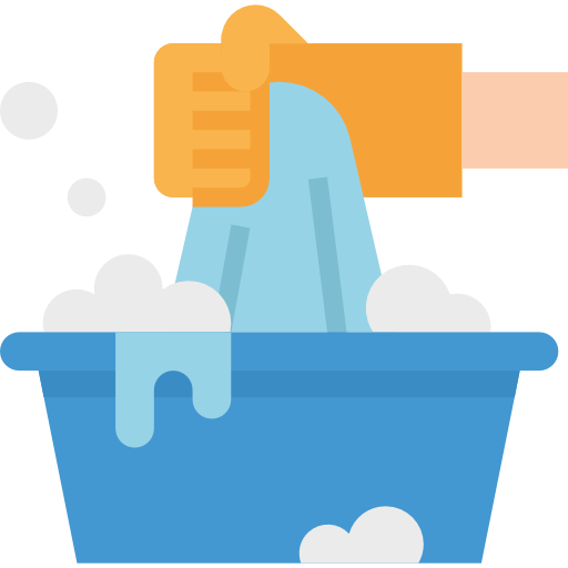 Washing clothes  free icon