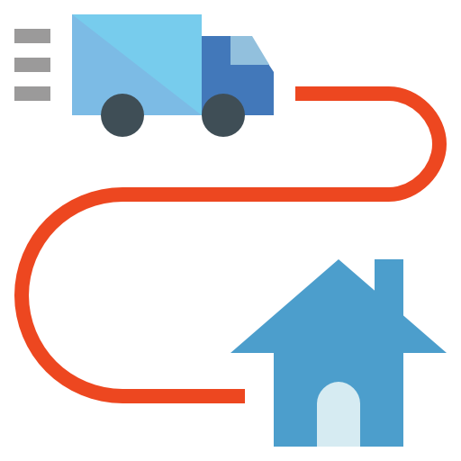 Shipping and delivery  free icon